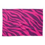 Trendy Pink Purple Zebra Stripes Wild Animal Print Hand Towel