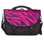 Trendy Pink Purple Zebra Stripes Wild Animal Print Laptop Computer Bag