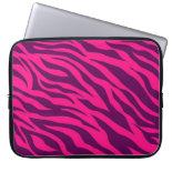Trendy Pink Purple Zebra Stripes Wild Animal Print Computer Sleeves