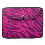 Trendy Pink Purple Zebra Stripes Wild Animal Print MacBook Pro Sleeves