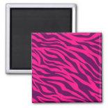 Trendy Pink Purple Zebra Stripes Wild Animal Print Magnets