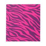 Trendy Pink Purple Zebra Stripes Wild Animal Print Memo Note Pads
