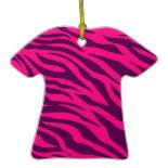 Trendy Pink Purple Zebra Stripes Wild Animal Print Christmas Tree Ornament