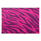 Trendy Pink Purple Zebra Stripes Wild Animal Print Place Mats