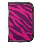 Trendy Pink Purple Zebra Stripes Wild Animal Print Folio Planners