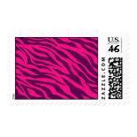 Trendy Pink Purple Zebra Stripes Wild Animal Print Stamps