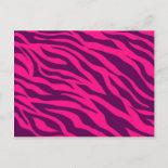 Trendy Pink Purple Zebra Stripes Wild Animal Print Post Cards