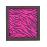 Trendy Pink Purple Zebra Stripes Wild Animal Print Premium Keepsake Boxes