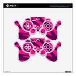 Trendy Pink Purple Zebra Stripes Wild Animal Print PS3 Controller Skin