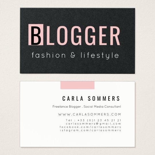 Trendy pink quartz minimalist freelance blogger business card trendy pink quartz minimalist freelance blogger business card reheart Gallery