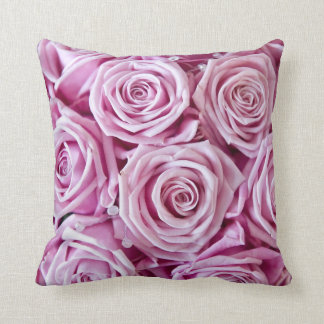 Pink Rose Pillows, Pink Rose Throw Pillows