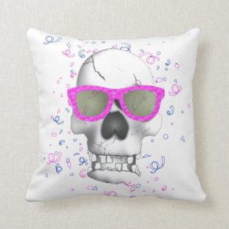 Trendy pink Skull cushion