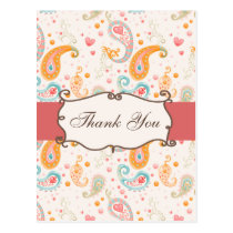 trendy  pink ThankYou Cards