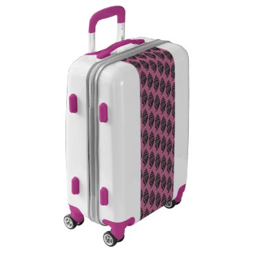 Beach Themed Trendy Pink,White And Black Shell Pattern Luggage