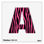 Trendy Pink Zebra Alphabet Letter Wall Decal
