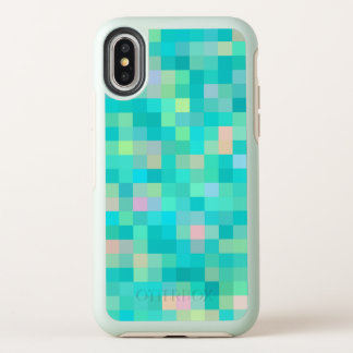 Trendy Pixel Art Multicolor Pattern OtterBox Symmetry iPhone X Case