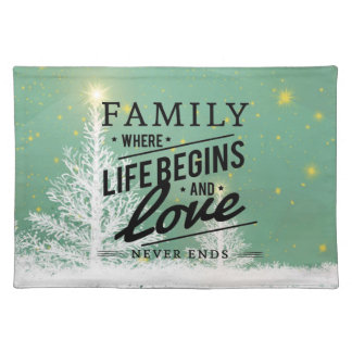 Trendy Placemat family love life Christmas