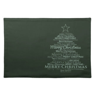 Trendy Placemat green Merry Christmas