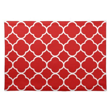 USA Themed Trendy Placemat Quaterfoil red white cool