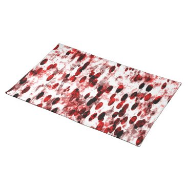 USA Themed Trendy Placemat Red white art abstract splatter