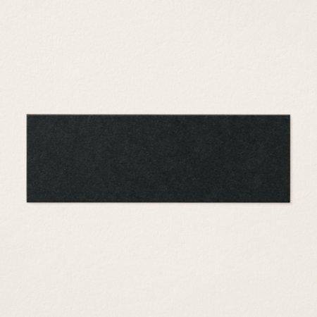 Minimal Black Design Simple Classy Black Mini Accountant Business Cards Template