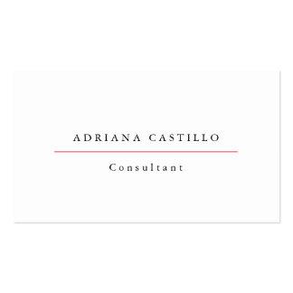 Trendy Plain Simple White Professional Minimalist Business Card