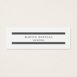 Trendy Plain Slim Grey Lines Mini Business Card