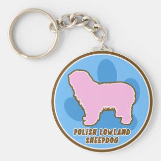 Trendy Polish Lowland Sheepdog Keychain