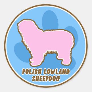 Trendy Polish Lowland Sheepdog Stickers