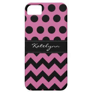 Trendy Polka Dot Chevron Zigzag iPhone 5 Case