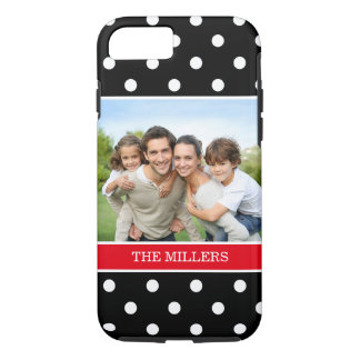 Trendy Polka Dots Favorite Family Portrait Photo iPhone 8/7 Case