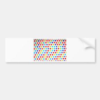 Trendy Polka dots poducts Car Bumper Sticker