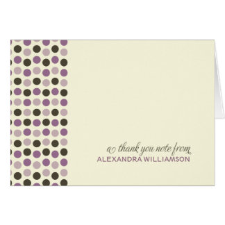 Trendy Polka Dots Thank-You Card (lilac)