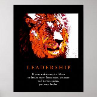 Trendy Pop Art Motivational Leadership Lion Poster