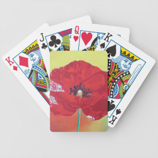 Trendy Poppy Bicycle Playing Cards