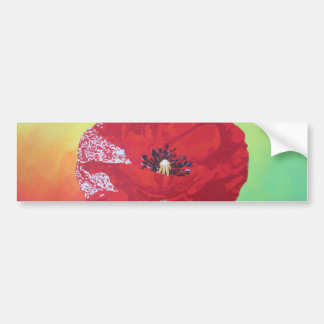 Trendy Poppy Bumper Sticker