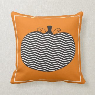 Trendy Pumpkin Throw Pillow