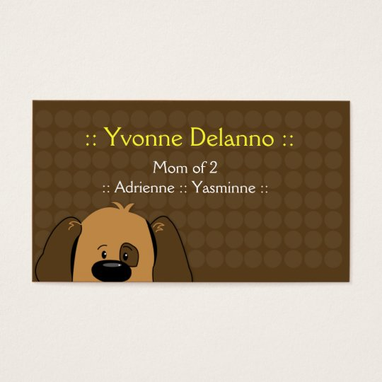 Trendy Puppy Dog Business / Mommy Calling Card