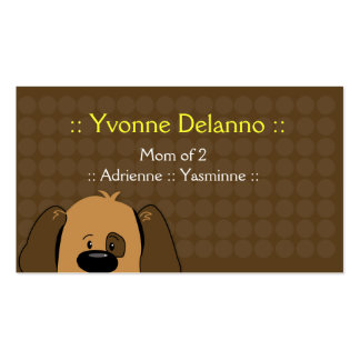 Trendy Puppy Dog Business / Mommy Calling Card Double-Sided Standard Business Cards (Pack Of 100)