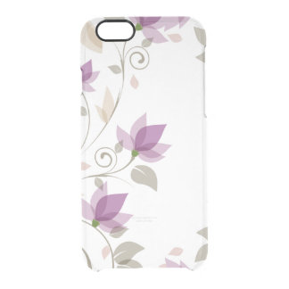 Trendy Purple Abstract Floral Clear iPhone 6/6S Case