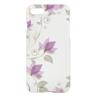 Trendy Purple Abstract Floral iPhone 7 Case