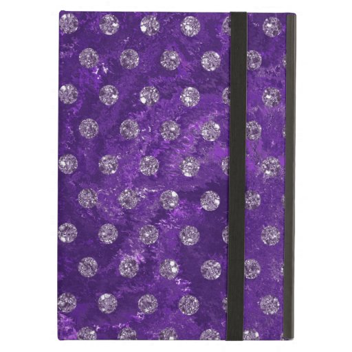 Trendy Purple and faux rhinestones Case For iPad Air