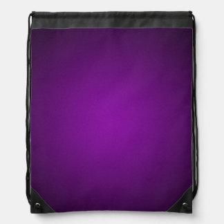 Trendy Purple-Black Grainy Vignette Drawstring Bag