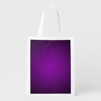 Trendy Purple-Black Grainy Vignette Grocery Bag