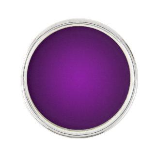 Trendy Purple-Black Grainy Vignette Lapel Pin
