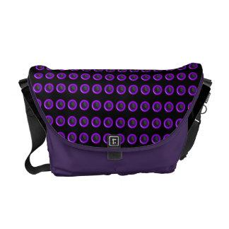 "Trendy purple black ""polka dot"" pattern courier bags"