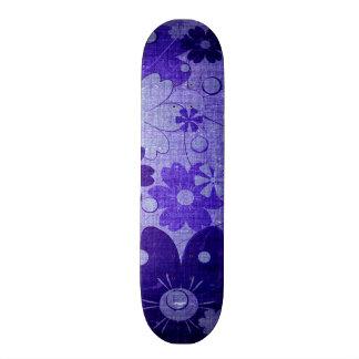 Trendy Purple Blue Flower Vintage Skateboard Deck