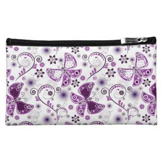 Trendy Purple Butterflies Cosmetics Bags