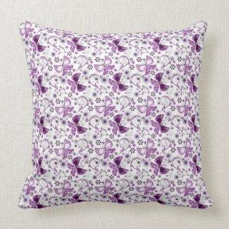 Trendy Purple Butterfly Pillows