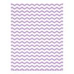 Trendy Purple Chevron Design Letterhead